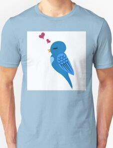 Single cartoon bird in love T-Shirt