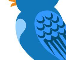 Single cartoon bird in love Sticker