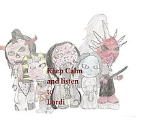 Keep Calm and Listen To Lordi Photographic Print