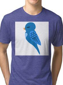 Adorable single cartoon bird Tri-blend T-Shirt
