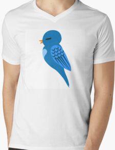 Adorable single cartoon bird Mens V-Neck T-Shirt