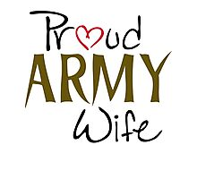 Army, Military, wife Photographic Print