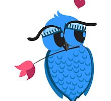Cute cartoon owl in love by berlinrob