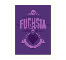 Fuchsia Gym Art Print