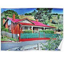 Heritage House in Burnie, Tasmania. Poster