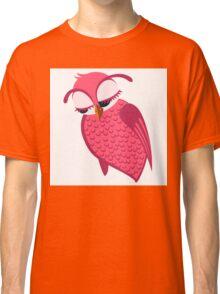 Cute single cartoon owl Classic T-Shirt