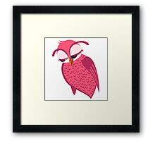 Cute single cartoon owl Framed Print