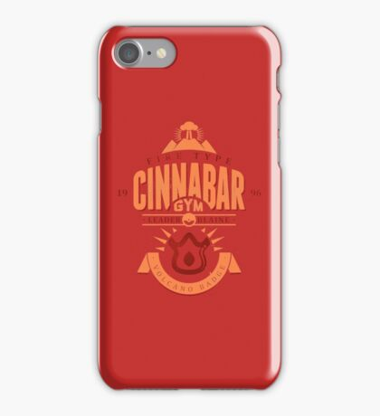 Cinnabar Gym iPhone Case/Skin