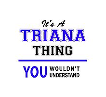 It's a TRIANA thing, you wouldn't understand !! Photographic Print