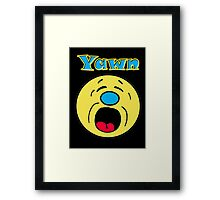 Iskybibblle Products Yawn Framed Print