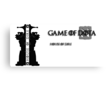 Game of Dota, House of Dire Canvas Print