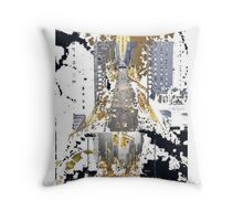 From Paris to New York Throw Pillow