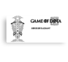 Game of Dota, House of Radiant Canvas Print