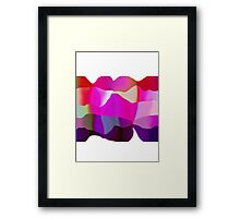 candy ribbons Framed Print