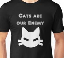 Iskybibblle Products Cats are our Enemy White Unisex T-Shirt