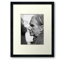 Old Lady Portrait Framed Print