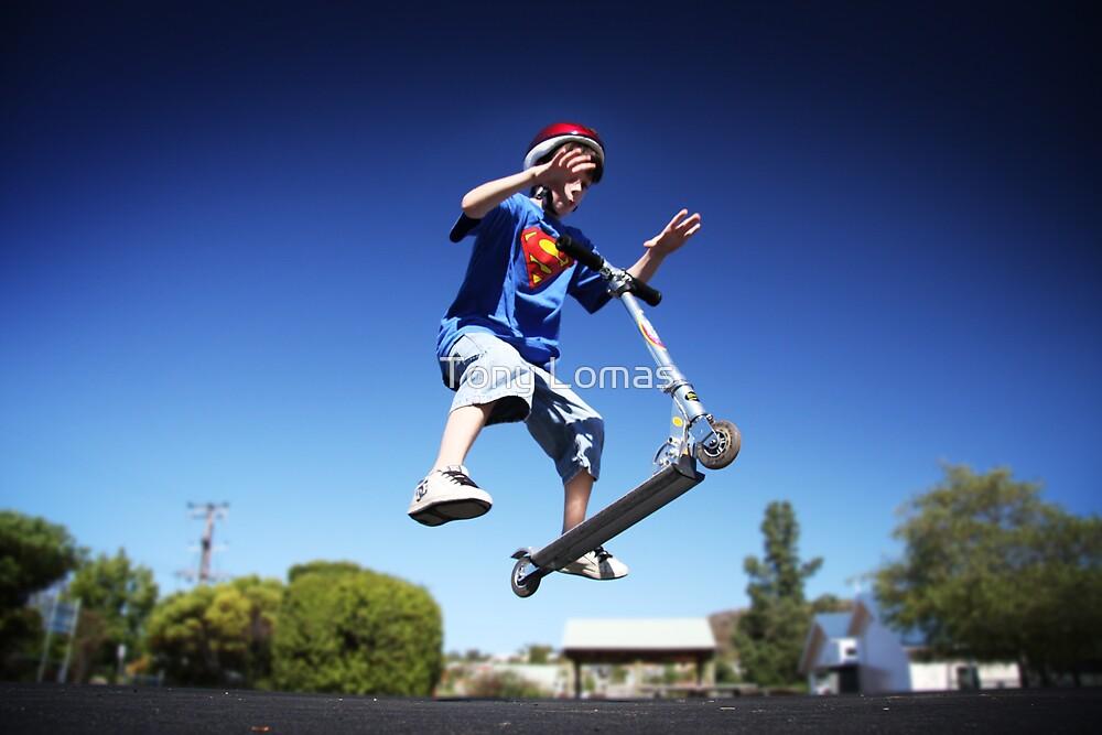 Superhero Flying by Tony Lomas