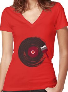 Art of Music Women's Fitted V-Neck T-Shirt