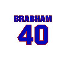 National football player Cary Brabham jersey 40 Photographic Print