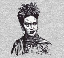 Tender Self Belief (portrait of Frida Kahlo) by Angelique  Moselle