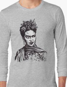 Tender Self Belief (portrait of Frida Kahlo) Long Sleeve T-Shirt