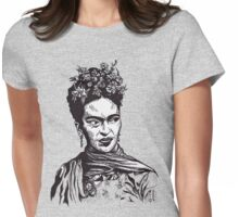 Tender Self Belief (portrait of Frida Kahlo) Womens Fitted T-Shirt