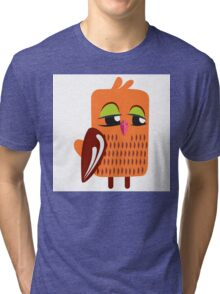 Cute cartoon owl Tri-blend T-Shirt