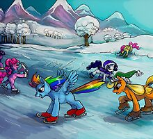 Ice skating! MLP by Anarchpeace