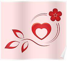 Valentine composition Poster