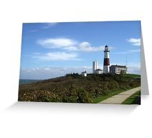Lighthouse at Montauk, Long Island, New York Greeting Card