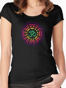 Om Dharma Psychedelic Women's Fitted Scoop T-Shirt