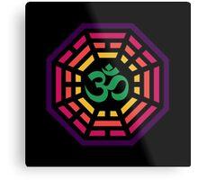Om Dharma Psychedelic Metal Print
