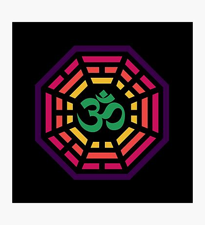 Om Dharma Psychedelic Photographic Print