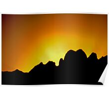 Sunrise in the Organ Mountains Poster
