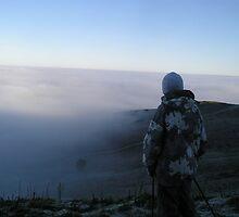 Skiing in the Mist by AndrewBlackie