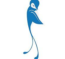 Single cartoon bird flying by berlinrob