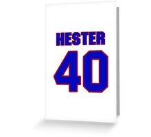National football player Jacob Hester jersey 40 Greeting Card