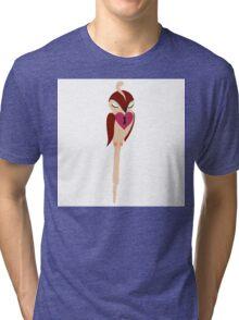 Adorable single cartoon bird in love  Tri-blend T-Shirt