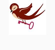 Adorable single cartoon bird in love  Unisex T-Shirt
