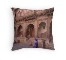 indian lady Throw Pillow