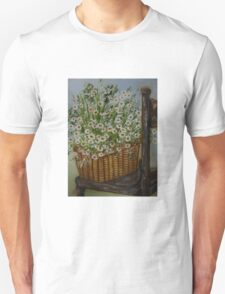 Still life with flowers on chair 2 Unisex T-Shirt