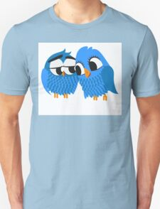 Two blue cartoon owls in love T-Shirt