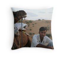 thoughful rajput Throw Pillow