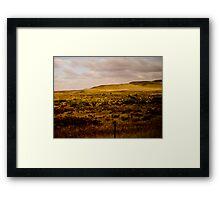 Western plains Framed Print