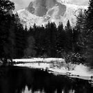Half Dome-Winter by Bill Serniuk