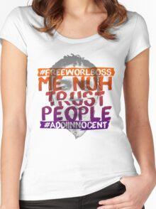 NUH TRUST PEOPLE #FREEWORLBOSS (ORANGE-PURP) Women's Fitted Scoop T-Shirt