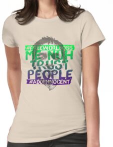 NUH TRUST PEOPLE #FREEWORLBOSS (GREEN-PURP) Womens Fitted T-Shirt