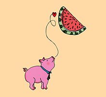 My Piggie Loves Watermelon by Elvedee