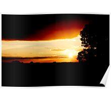 Silloette Sunset Poster