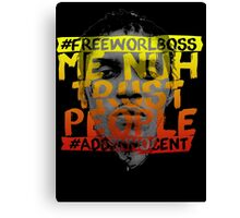 NUH TRUST PEOPLE #FREEWORLBOSS (YELLOW-RED) Canvas Print